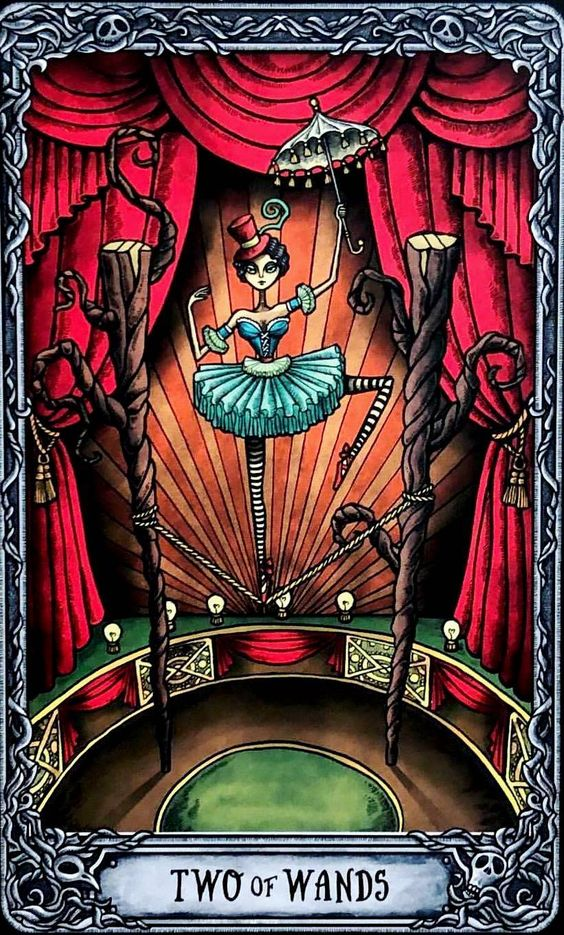 tarot card art | two wands illustration limited edition | Girlfriend is Better