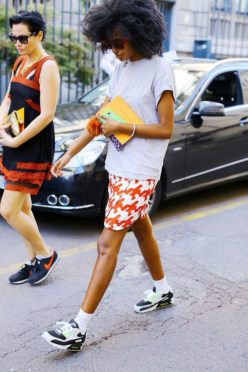 tennis shoes | fashion inspiration skirt outfit | Girlfriend is Better