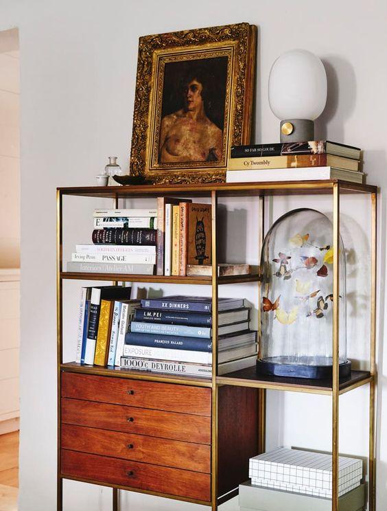 bookshelves | mid-century modern portraits random people eclectic decor | Girlfriend is Better