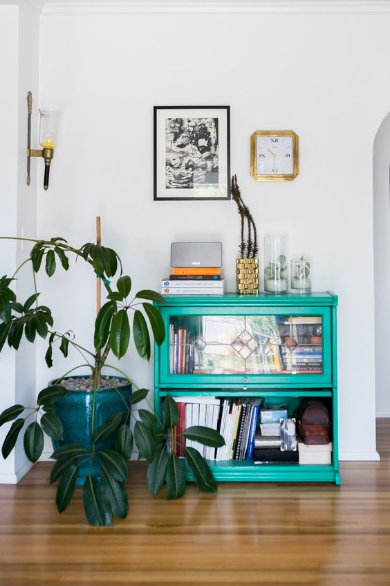 bookshelves | sefoam green up cycled vintage nook Feng Shui plant | Girlfriend is Better