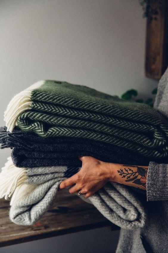 hygge hostess | wool blankets guest cozy entertaining | Girlfriend is Better