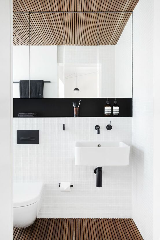 bathroom sinks | modern square black white clean tile | Girlfriend is Better
