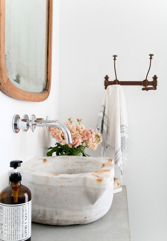 bathroom sinks | marble Bohemian feminine | Girlfriend is Better