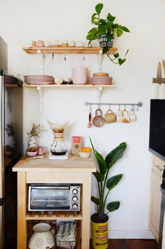 kitchen utility hooks | hygge open shelving baking storage | Girlfriend is Better