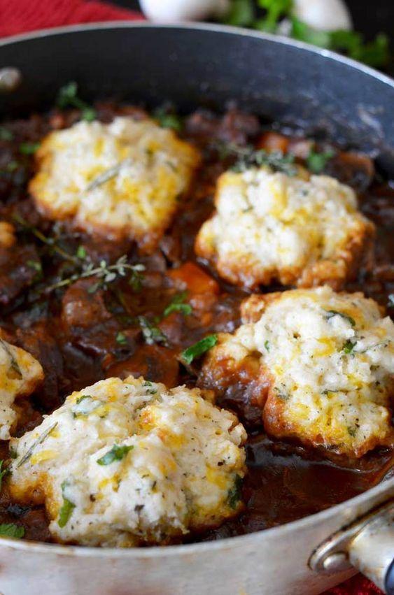 March's seasonal vegetables | St. Patrick's Day recipe Guinness beer beef stew dumplings carrots celery turnips parsnips | Girlfriend is Better