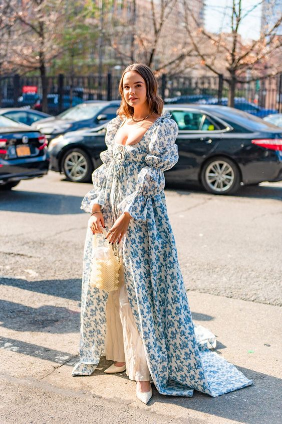 retro romance | spring fashion Victorian puff sleeve maxi dress | Girlfriend is Better