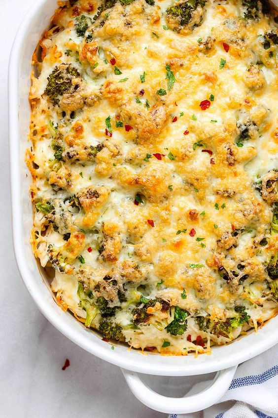 April seasonal vegetables | comfort food broccoli chicken casserole cream cheese Vitamin C recipes | Girlfriend is Better