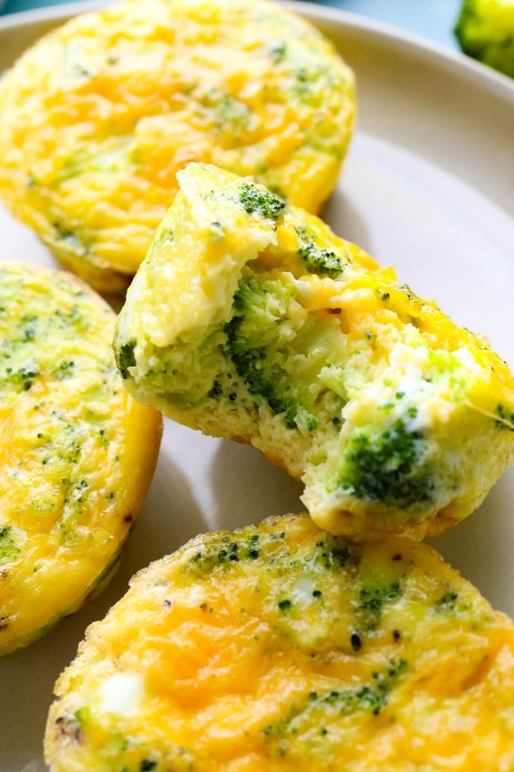 April seasonal vegetables | broccoli cheddar egg bites quiche Vitamin C protein low calorie | Girlfriend is Better