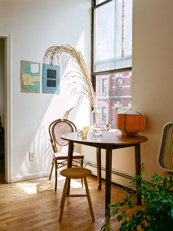 bistro tables | mixed dining chairs hygge tablescape natural decor | Girlfriend is Better
