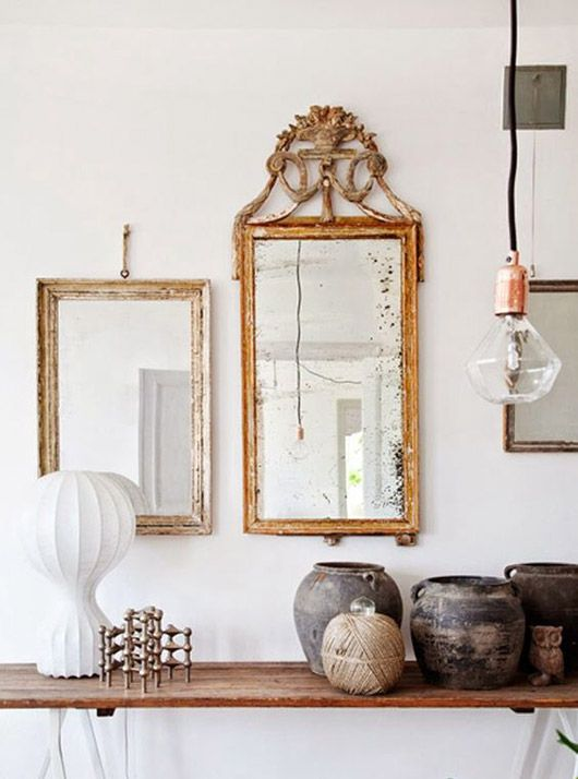 mirror Feng Shui | hanging gilded gallery wall | Girlfriend is Better