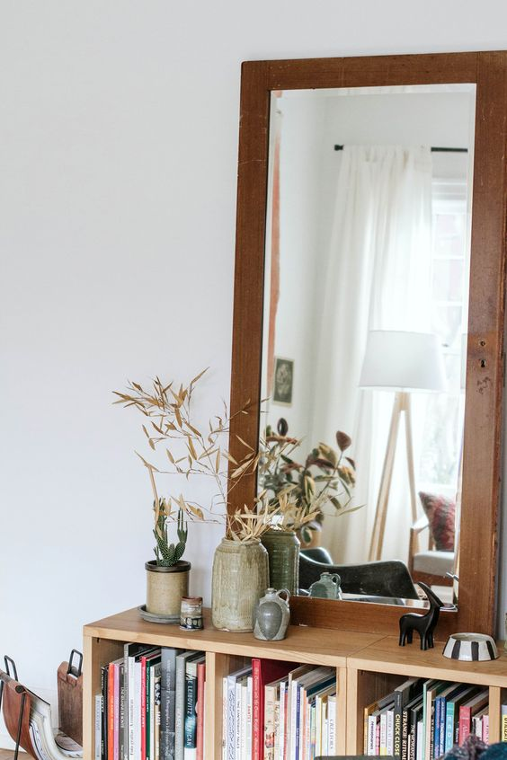 mirror Feng Shui | activate energy bookshelves books hygge | Girlfriend is Better