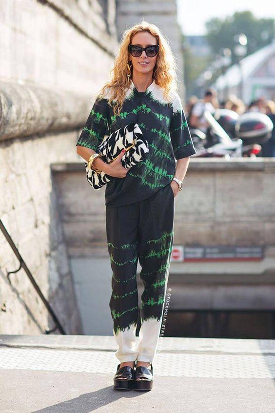 tie dye | sweat pants penny loafers oversized clutch loungewear | Girlfriend is Better