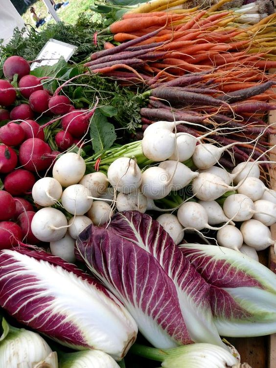 May seasonal vegetables | radishes carrots fennel radicchio turnips health benefits recipes farmers market | Girlfriend is Better