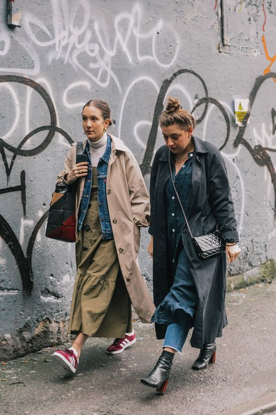 oversized menswear | trench coats voluminous dresses street style layering | Girlfriend is Better