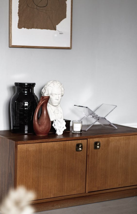 bust statues | Beethoven Bohemian console styling brown | Girlfriend is Better