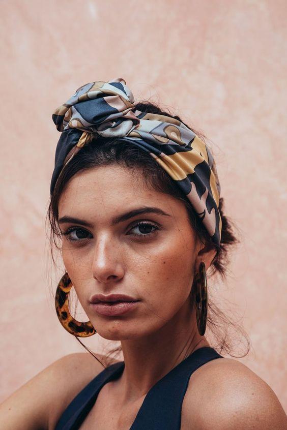 hair scarf | turban bossa nova style summer updo | Girlfriend is Better