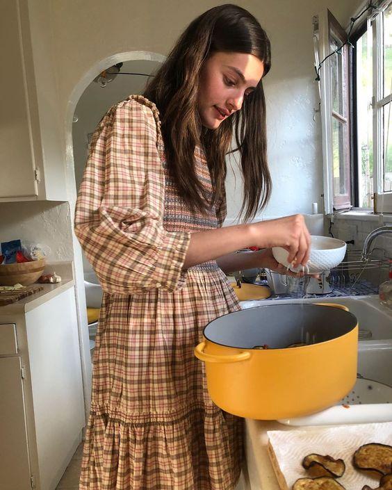 voluminous dresses | house dress balloon puff sleeves ruffles | Girlfriend is Better