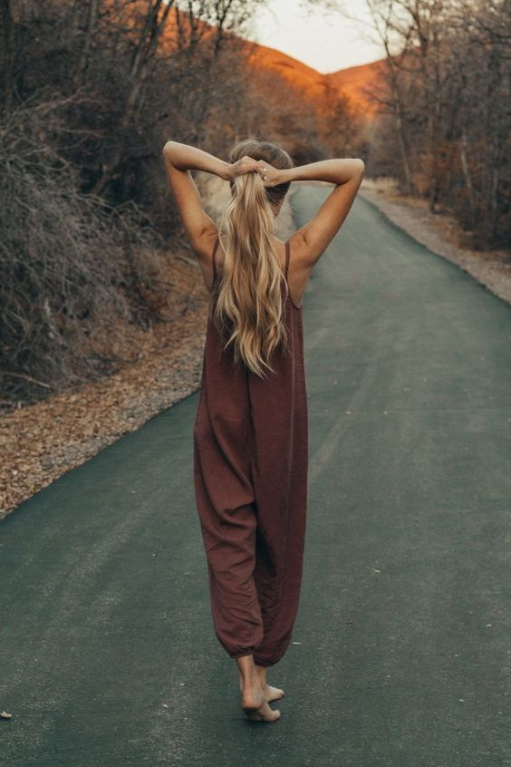 linen jumpsuits | spaghetti strap gathered hem lightweight summer style | Girlfriend is Better