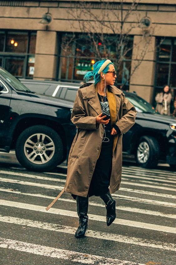 oversized trench coats | belted wide lapels mid-length winter fashion street style | Girlfriend is Better