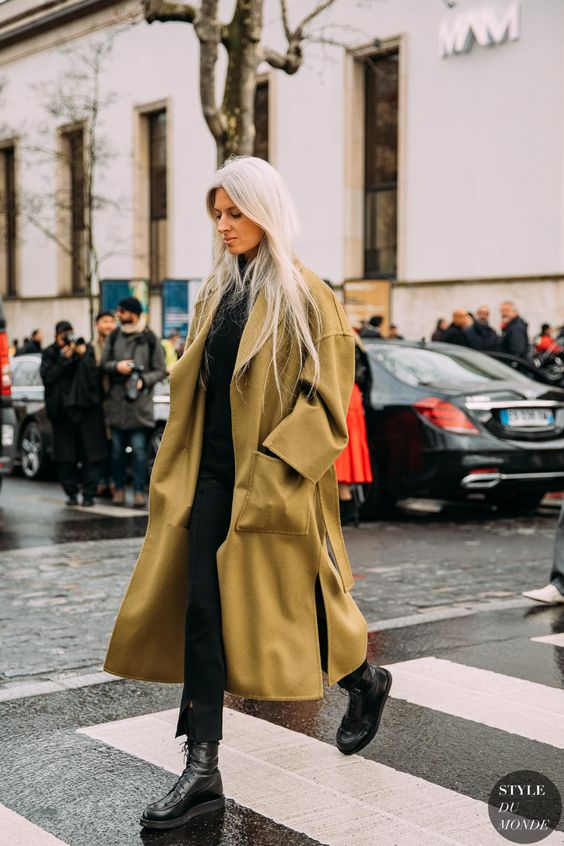oversized trench coats | full-length pockets dropped shoulder seams street style winter | Girlfriend is Better