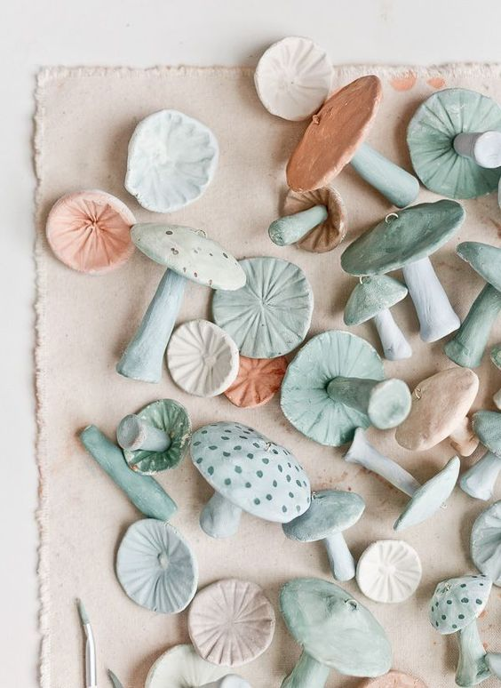 cozy Christmas | handmade clay mushroom ornaments DIY | Girlfriend is Better