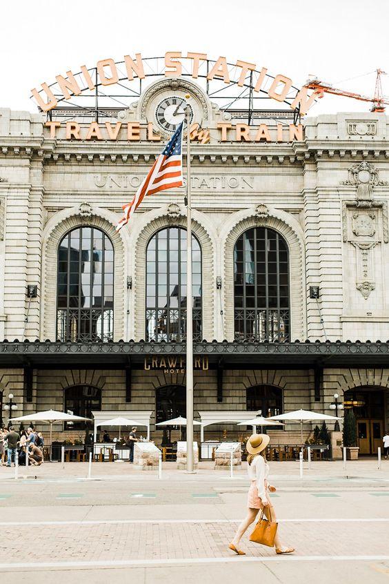 Denver Colorado   Union Station restaurants shopping tourist sightseeing   Girlfriend is Better