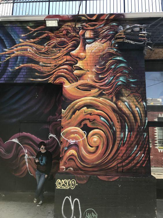 Denver Colorado   RINO Art District graffiti wall River North   Girlfriend is Better