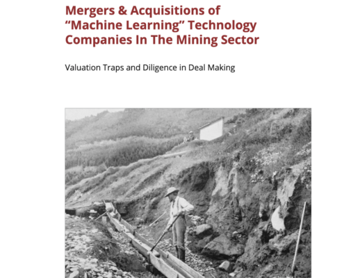 Mergers & acquisitions of machine learning in the mining sector
