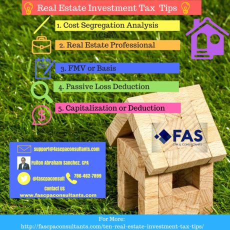 Tax Planning for real estate Investors