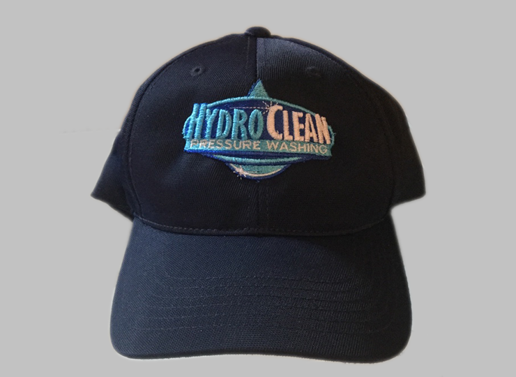 embroidery on hats for local pressure washing company in hickory north carolina