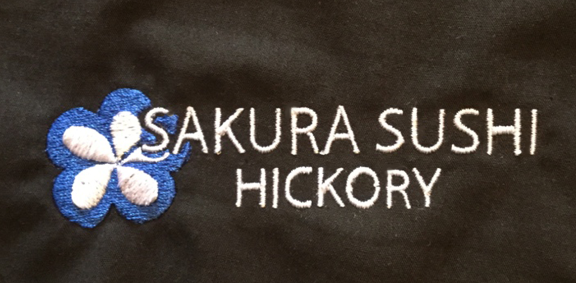 logo embroidered on appareal for local restaurant in hickory north carolina