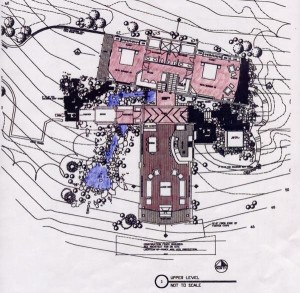 Alt text: 110 Bernardo floor plan sketch