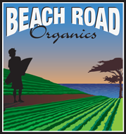 Beach Road Organics logo.