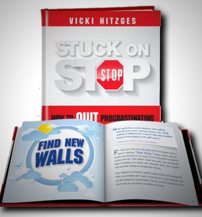 Keynote Speaker and author Vicki Hitzges's Stuck on Stop book image