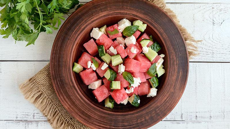 Arugula Watermelon Feta Salad