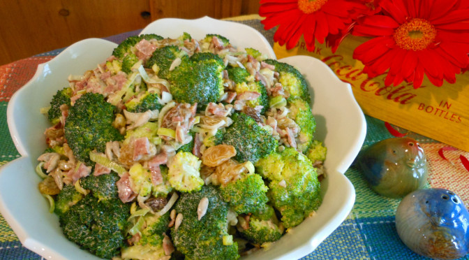 Creamy Broccoli Salad Recipe with Vegan & Turkey Bacon Options (Gluten-Free, Egg-Free, Dairy-Free, Soy-Free, Nut-Free, Pepper-Free)