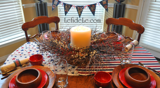 Reverential Memorial Day, Veterans Day, or Independence Day Tablescape Décor Ideas Honoring American Forces
