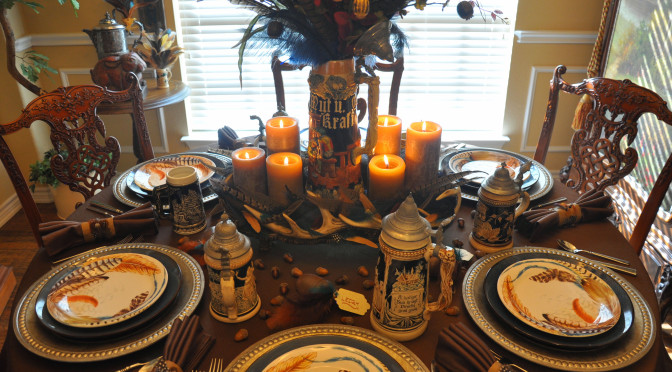 Bavarian Oktoberfest Party Décor Ideas for a Fall Tablescape