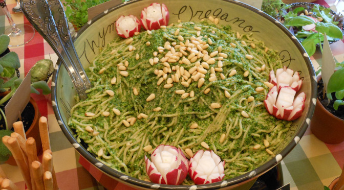 Healthy Herb Garden Fresh Parsley Pesto Pine Nut Pasta Recipe (Gluten-Free, Dairy-Free, Soy-Free, Vegan)