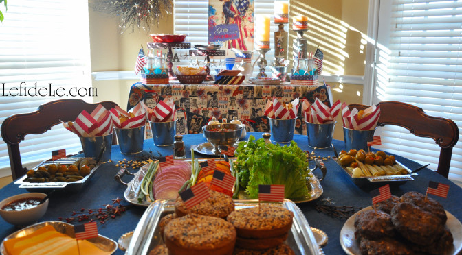Star-Spangled Independence Day Patriotic Party Décor Ideas (& All-American Burger Bar)