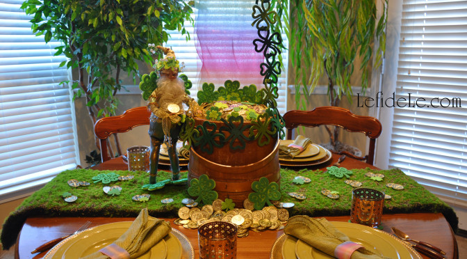 Meet me at the End of the Rainbow Tablescape Ideas for St. Patrick's Day Party Décor