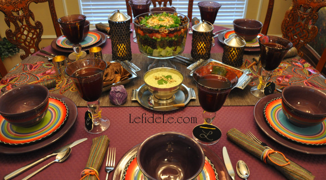 Tex-Mex Dinner Fiesta Forever Tablescape Décor Ideas (for San Antonio Fiesta or Cinco de Mayo Party)