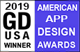 Graphic Design USA magazine American App Design Awards Winner 2019