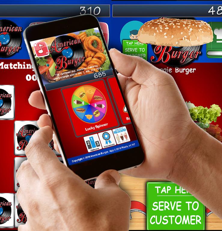 American Burger games app