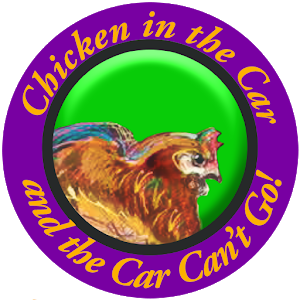 chicken in the car