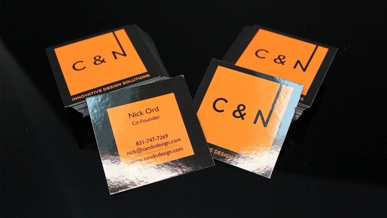C and N Design business cards