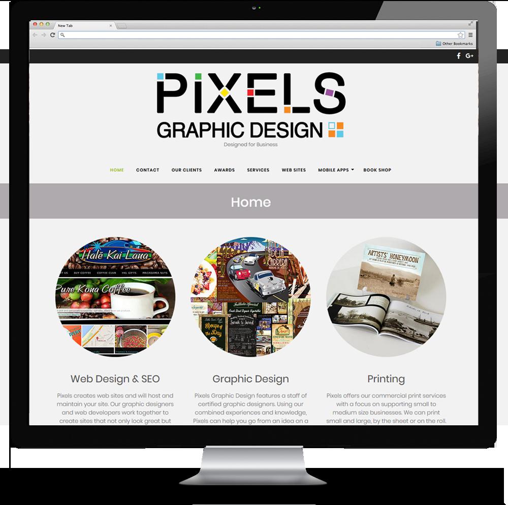Pixels Graphic Design web site