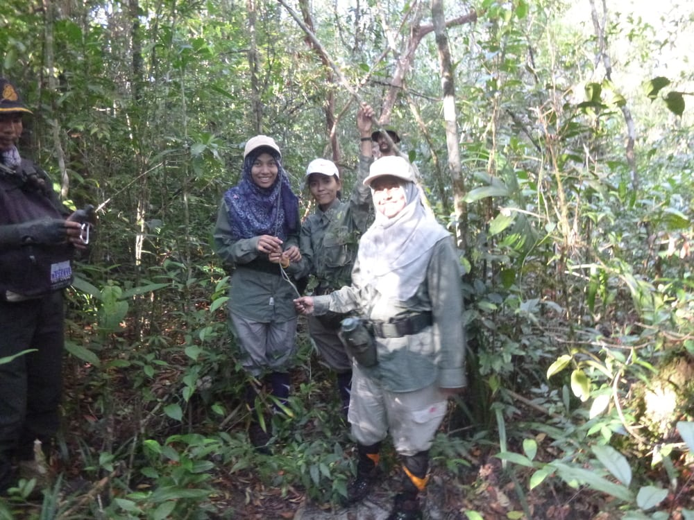 Female Ranger Team Installs Cameras in Cardamoms