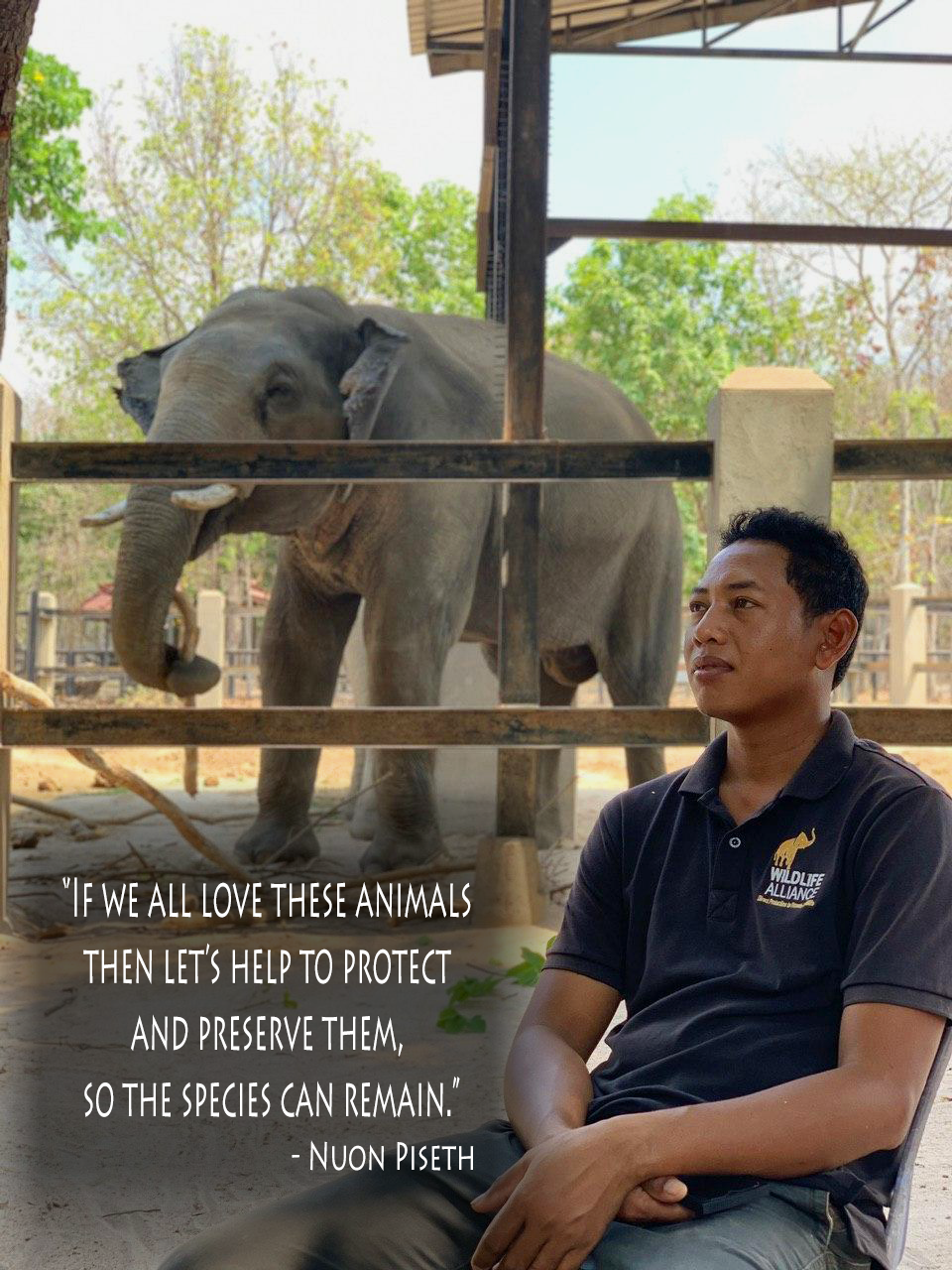 Meet Seth, one of our elephant keepers!