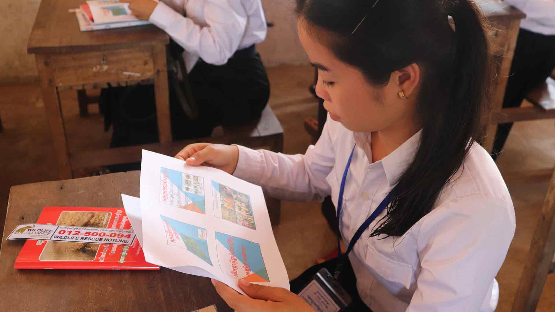 Cambodian high school students talk forests and wildlife